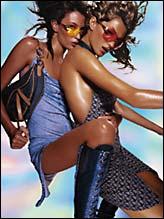 Рекламная акция Dior; модели Жизель Бюндхен и Риа Дурхэм