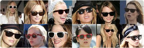 Звезды Голивуда в очках Wayfarer