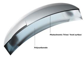 Композитные поликарбонатные фотохромные бифокальные линзы Transitions Signature VII компании Younger Optics